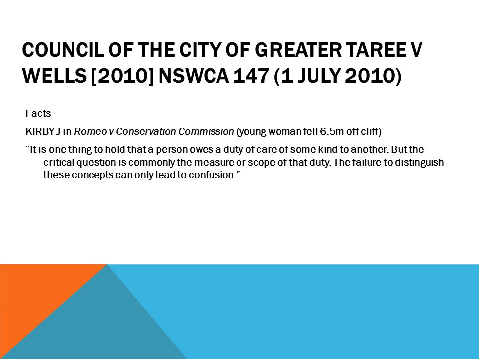 Council of the City of Greater Taree v Wells [2010] NSWCA 147 (1 July 2010)